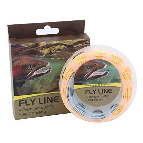 Maxcatch WF5F Trout Fly Line Weight Forward Floating 5wt 100FT Orange/Blue Fly Fishing (Fishing Fly Line compare prices)