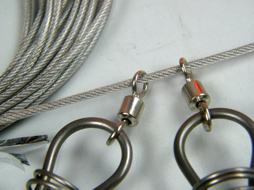 1set 5meter 16inch fishing stringer fish lock 5 snap for How to use a fish stringer