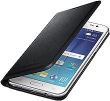 Comprar Samsung BT-EFWJ500BBEGWWB - Funda oficial tipo flip, tarjetero para Samsung Galaxy J5, color negro