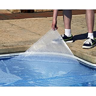Blue Wave 30-Feet x 50-Feet Rectangular Solar Blanket for In-Ground Pools 14-mil, Clear