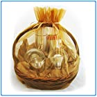 1pc Organza Sheer Gift Basket Bag Pouch 22″ x 25.5″ – Gold