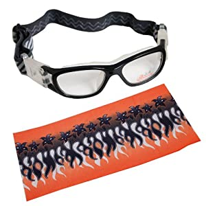 Basto Basketball Sports Glasses Anti Collision Sports Goggles + Headband Orange by IDS