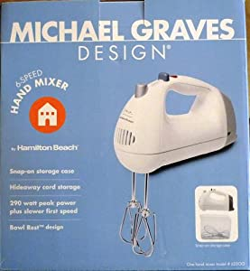 michael graves design hand mixer white michael graves beaters kitchen dining. Black Bedroom Furniture Sets. Home Design Ideas