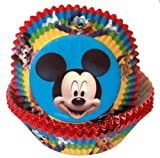 Mickey Mouse Cupcake Bun Muffin Cases (pack of 50).