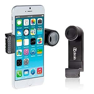 Support téléphone - kit main libre - kit bluetooth - pour voiture grille d'aération, ventilation mobile Apple iPhone4/4S, iPhone5, iPhone5C, iPhone5S, Samsung Galaxy S3, Apple iPod touch, GPS IZIDEAL