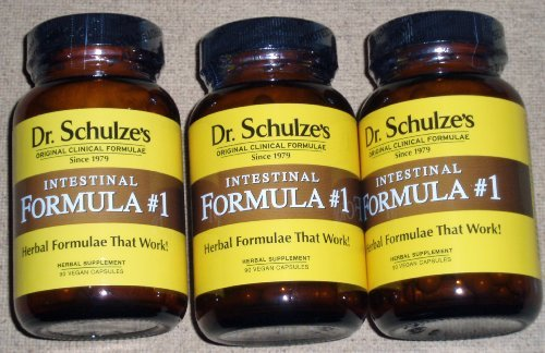 intestinal cleanse ***** NEW GLASS Bottles! ***** Set 0f 3 ~ Dr. Schulze