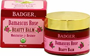 Badger Damascus Rose Beauty Balm - Certified Organic