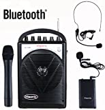 Hisonic HS120BT 40 Watts Rechargeable & Portable PA System with Built-in VHF Wireless Microphones & Bluetooth Dark Gray