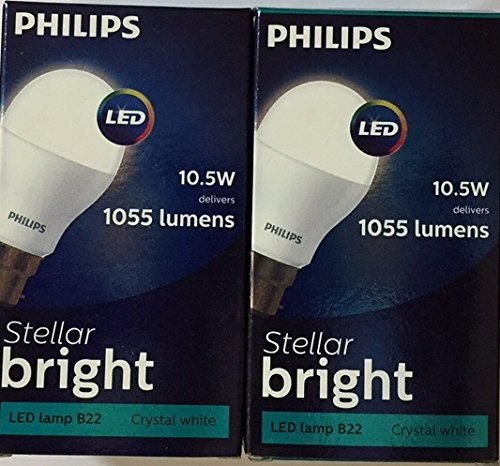Steller Bright 10.5 W B22 6500K LED Bulb (Cool Day Light, Pack of 2)