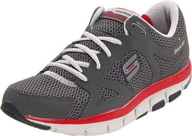 Skechers Liv-Smart 52200 BKGY, Sneaker uomo, Grigio (Grau/CCRD), 43