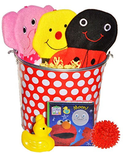 Birthday Baby Shower Gift Basket for Babies Toddlers Kids (Color1)