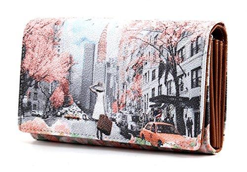 Portafoglio donna Y Not stampa Spring in New York - F364