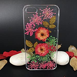 Personalized Clear Slim Real Flowers Smartphone Phone Case for iPhone 6