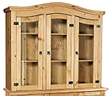Heartlands Furniture 3-Doors Corona Hutch, Light Fiesta Wax Pine