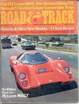 ROAD AND TRACK MAGAZINE DECEMBER 1974 MCLAREN M6GT: Amazon ...