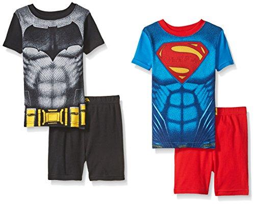 Justice League Boys' Batman Vs Superman 4 Piece Cotton Short Set at Gotham City Store