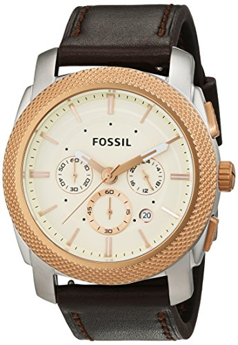 Fossil FS5040 - Orologio da polso Uomo, Pelle, colore: Marrone