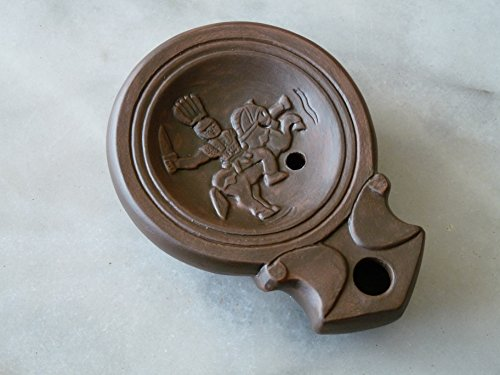 lampe-a-huile-romaine-cavalier-gaulois-alaudagenos