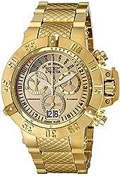 Invicta Men's 17615 Subaqua Analog Display Swiss Quartz Gold Watch