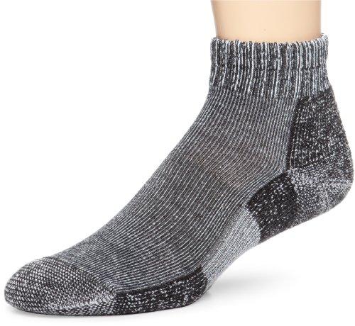 Thorlo Thorlo Men's Trail Running Mini Crew Sock, Charcoal Heather, Large/13 Men's 9-12.5;Ladies 10.5-13