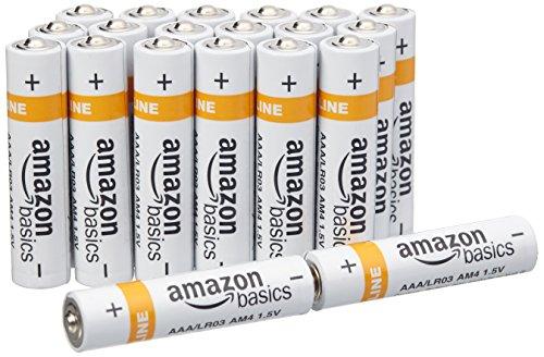 AmazonBasics Lot de 20 piles alcalines Type AAA