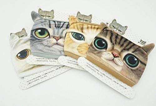 ShopXJ 猫 マスク コスプレ 布製 使い捨て 個包装 4枚セット(4枚)