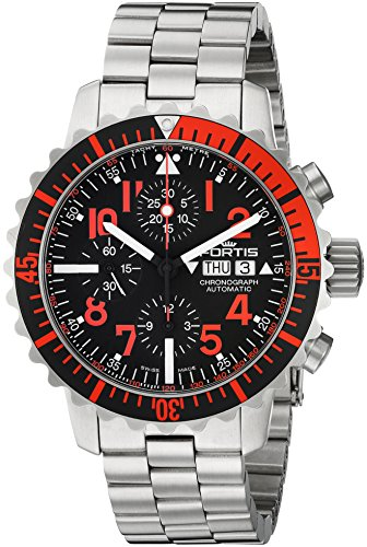 Fortis-Mens-6712343-M-Marinemaster-Chronograph-Analog-Display-Automatic-Self-Wind-Silver-Watch