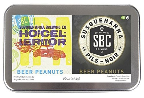 Edley Gourmet Nuts Gift Tin, 1 Pound Craft Beer-Infused Peanut Duo, Perfect as a Thank You Gift or for Any Occasion, Small-Batch Kettle Roasted For Superior Freshness, Nuts Never Tasted This Good (Wine Flavored Candy compare prices)