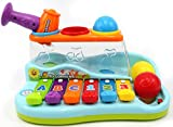 PowerTRC-Rainbow-Xylophone-Piano-Pounding-Bench-for-Kids-with-Balls-and-Hammer