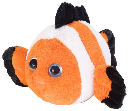Wild Republic Fuzzball Clownfish Plush - 1
