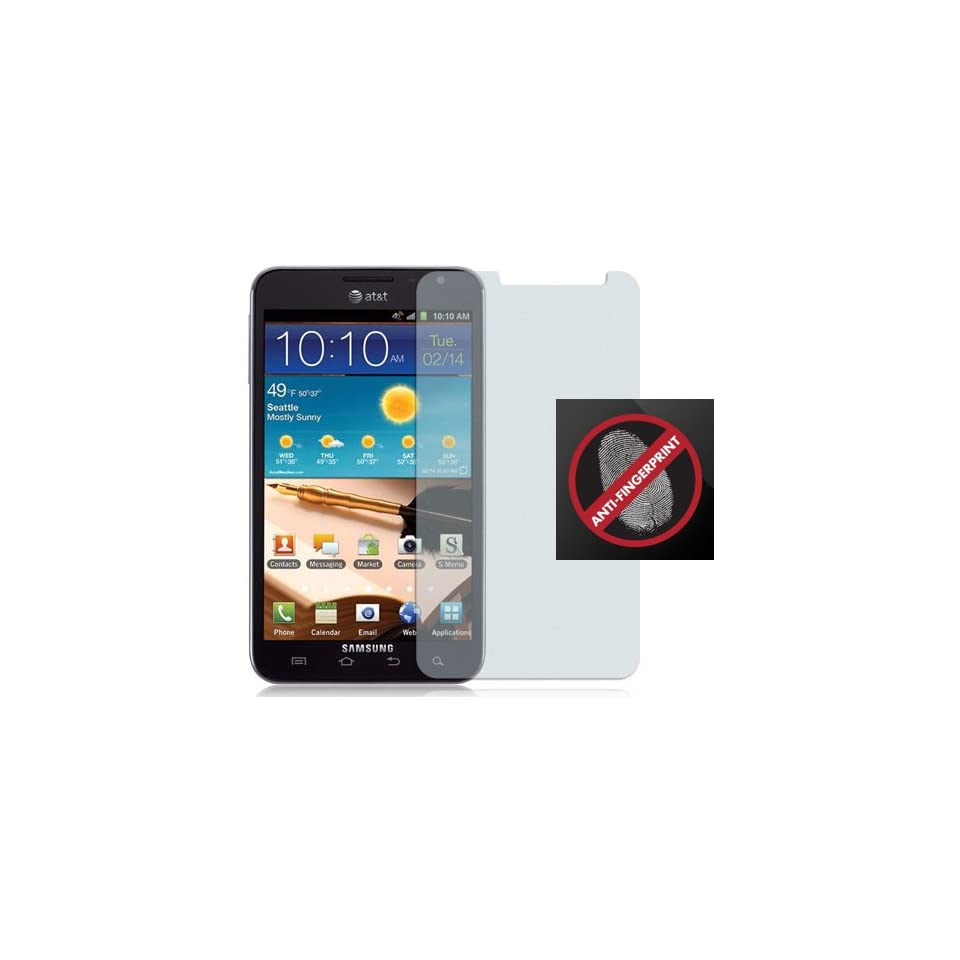 2 ANTI GLARE FINGERPRINT LCD SCREEN PROTECTOR FOR AT&T SAMSUNG GALAXY NOTE i717