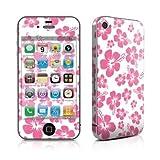Apple iPhone 4用スキンシール【Pink Hibiscus】