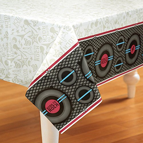 Rock Star Party Born to Rock Plastic Tablecover