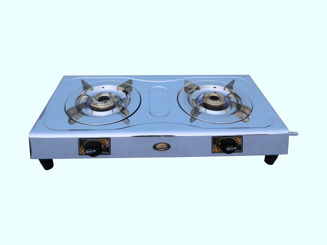 Delta 2114 Stainless Steel 2 Burner Gas Cookt..