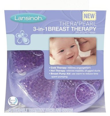 Lansinoh THERA PEARL 3-in-1 Hot Or Cold Breast Therapy