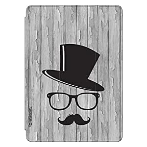 Enthopia Designer Front Smart Cover Movember Man 2 Back Cover for Ipad Air with Transparent Back Case