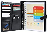 Executive Resume Padfolio & Portfolio -Best Tools for Interview, Job & Business -Free Gifts - Holds Removable 3 Ring Presentation Folders, Phone, Legal Pad, Pockets -Perfect Faux Leather Office Folio Organizer & Professional Documents Binder Case