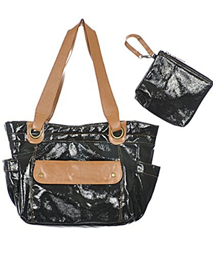 "Baby Essentials ""Greenwich"" 3-Piece Diaper Bag Set - black, one size"