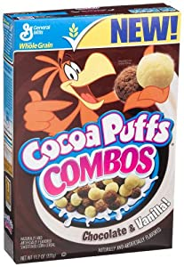 Cocoa Puffs Combos, Chocolate And Vanilla, 11.7-Ounce Boxes (Pack of 4)