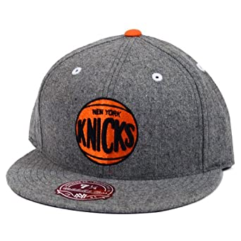 New York Knicks Mitchell & Ness Solid Flannel Grey Fitted Hat by Mitchell & Ness