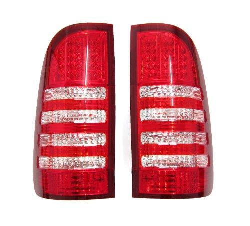 Pair Toyota Hilux Mk6 2005-2012 White Red Brake Lamp Led Tail Lights