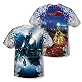 Polar Express Animated Fantasy Movie Train Poster Youth 2-Sided Print T-Shirt