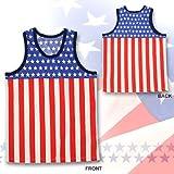 アメリカ国旗柄 タンクトップ USA 衣装 米国 ものまね 余興 忘年会 結婚式 パーティー 服 男性 メンズ ランキングお取り寄せ