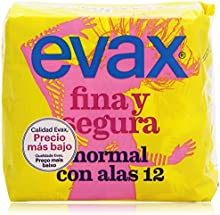 Evax Fina y Segura Compresas Normales con Alas - 12 Unidades