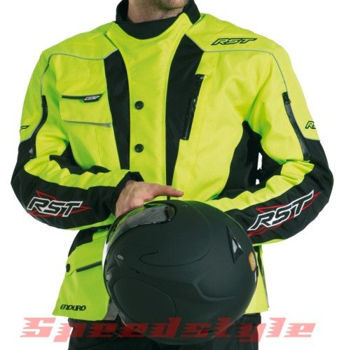 RST Enduro Textile Motorcycle Jacket Yellow Size 44