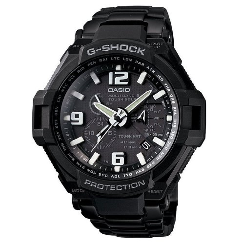 Casio GW4000D-1ACR Mens G-Shock G-Aviation Black Titanium Plated Stainless Steel Watch