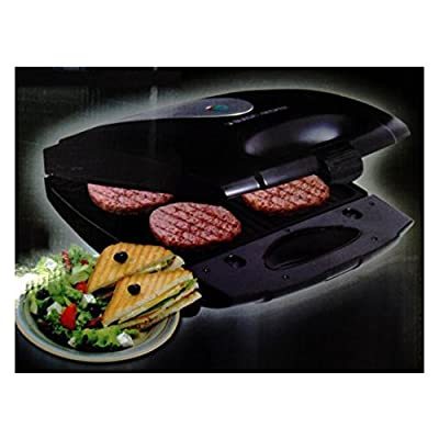 Black & Decker Lifestyle TS4080 1400-Watt 4 Slice-Interchangeable Plate Sandwich and Grill Maker (Black)
