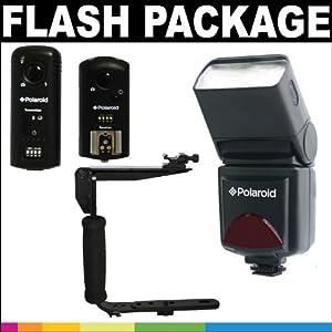 Polaroid Premium Package Deluxe PL-126PZ Studio Series Digital TTL Shoe Mount Bounce Flash