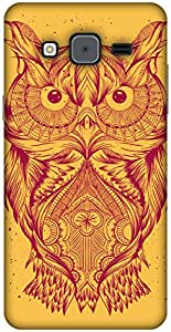 The Racoon Grip printed designer hard back mobile phone case cover for Samsung Galaxy On7. (Orange Ill)
