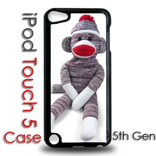 IPod 5 Touch Black Plastic Case - Sock Monkey Stuffed Animal at 'Sock Monkeys'